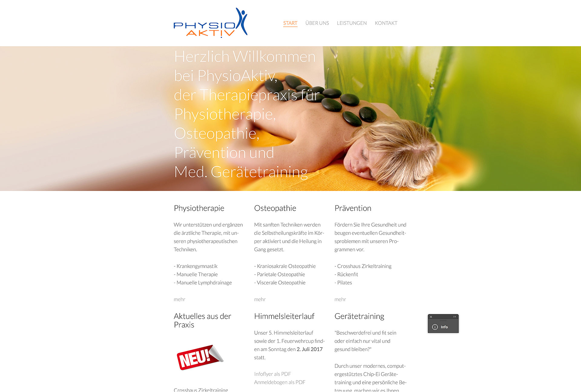 Webseite Physioaktiv